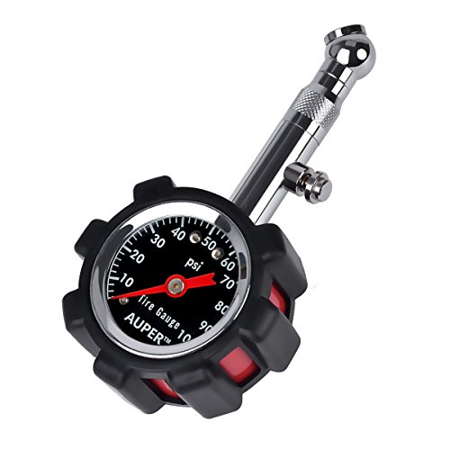 Auper High Accuracy Tire Pressure Gauge Black 100 psi