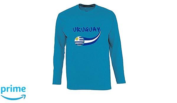 Supportershop - Camiseta Uruguay L/S Aqua Hombre, Azul Aqua, FR: L (Talla Fabricante: L): Amazon.es: Deportes y aire libre