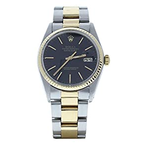 Best Epic Trends 41rIKBhVZ7L._SS300_ Rolex Datejust 36 Oyster Black Face (Certified Preowned)