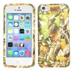 Apple iPhone 5C (AT&T/Verizon/Sprint) Camo/Camouflage Hunter Series, Green Leaves Hard Case/Cover/Faceplate/Snap On/Protector + Free Wristband Accessory - Cellphone Trendz (TM)