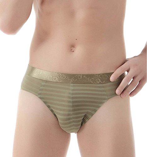 Hombres Sexy Slips Ropa Interior Seda De Hielo Sin Costura Respirable Calzoncillos Paquete De 2: Amazon.es: Deportes y aire libre
