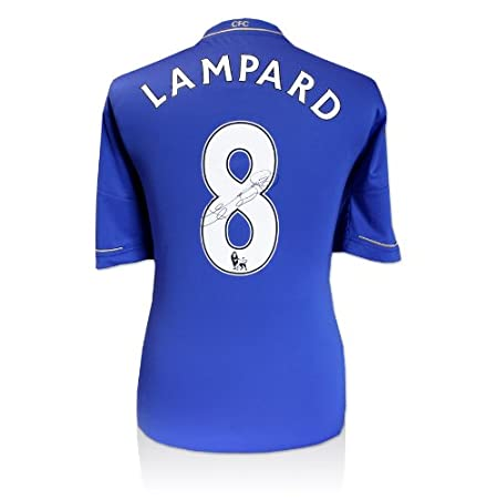 Frank Lampard Signed Chelsea Shirt - Number 8  Amazon.co.uk  Kitchen   Home 487e343c4