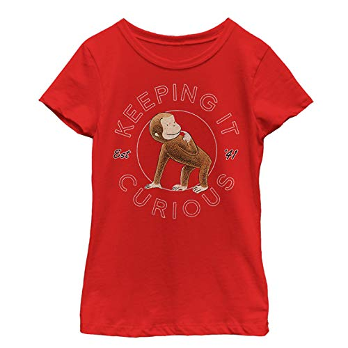 Curious George Girls' Keeping it Curious Red T-Shirt -