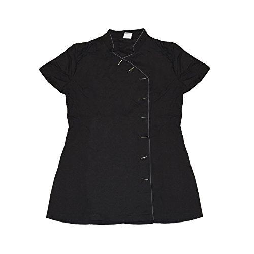 Betty Dain Bleach-proof Salon Stylist Tunic, Black/Silver, XL Betty Dain Estheticians Jacket