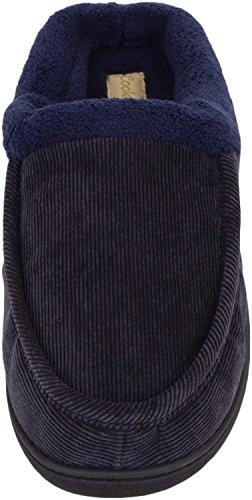 Heren Slip Op Slippers / Muilezels / Indoor Schoenen Met Snoer Buitenste Blauw