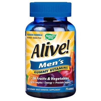 De façon vivante de la nature! Energie Gummy multi-vitamines à croquer, 75 comte des hommes