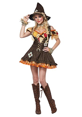 [Adult Sassy Scarecrow Deluxe Costume, Large] (Adult Deluxe Scarecrow Costumes)