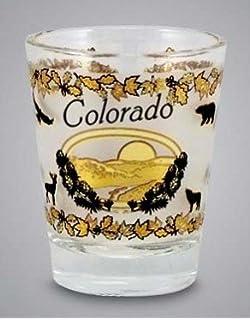 Colorado State Elements Map Shot Glass World By Shotglass costatemp