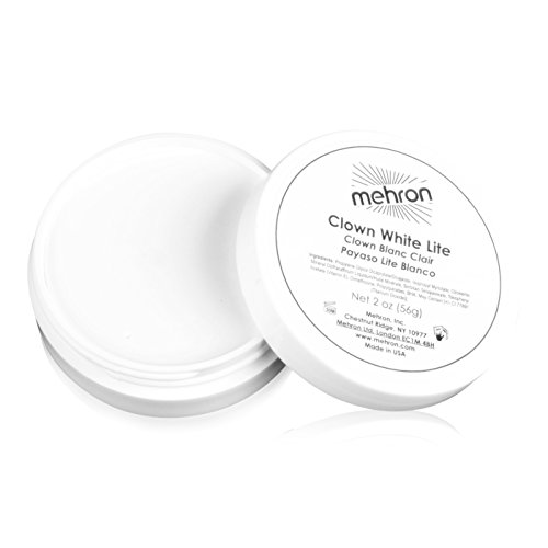 Mehron Makeup Clown White Lite (2 Ounces) (Halloween Costume Using Umbrella)