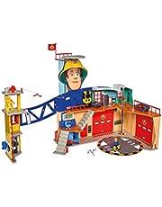 Simba - Brandweerman Sam Brandweerkazerne XXL, licht en geluid, op batterijen werkende lift, meerkleurig, vanaf 3 jaar