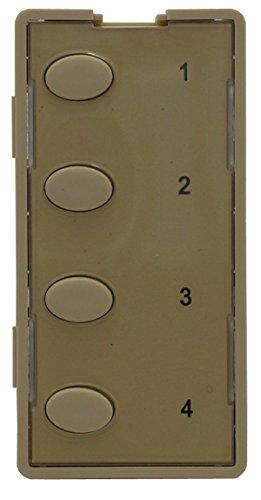 4O-I Custom Series Oval 4-Button Faceplate, Ivory ()