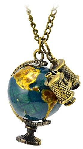 Damiani Gold Necklace - COCOTINA Retro Gold Globe Telescope Necklace