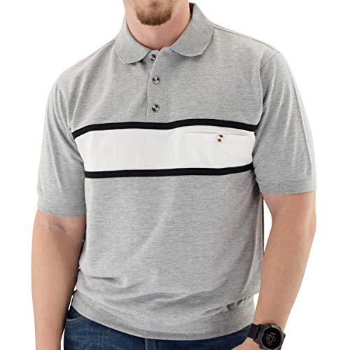 (Classics by Palmland Short Sleeve Banded Bottom Shirt Grey Grey HTH (M, GreyHth) )