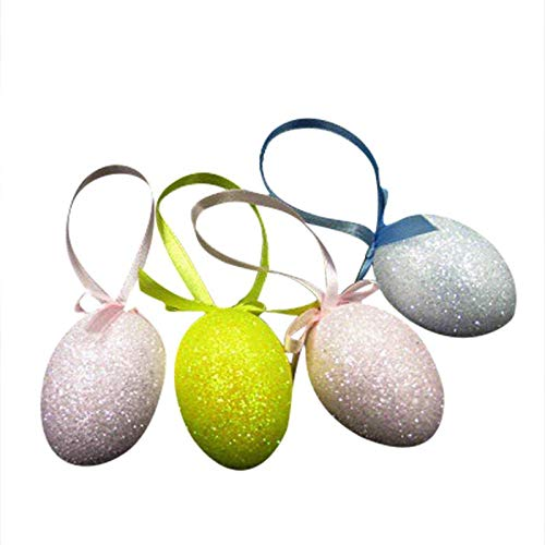 MUSLIN MINK Easter Basket Fillers, Wholesale 4 Pcs Pack Easter Eggs Glitter Bubble DIY Decorative Gifts - Light Up Toys, Easter Basket Filler, Foam Easter Eggs, Kids Bath Bombs, Eggs Foam from MUSLIN MINK