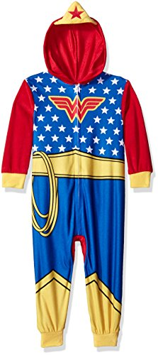 [DC Comics Little Girls' Toddler Family Cosplay Union Suit, Blue, 2T] (Family Themed Halloween Costumes 2016)