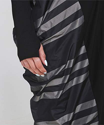 abito Grigio Grigio taffettà righe a Xenia inserto Design Da Donna Iren 7YxWfzav