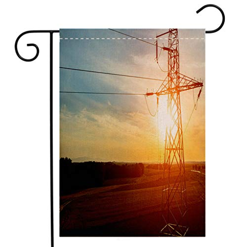 BEIVIVI Custom Double Sided Seasonal Garden Flag Aerial View on powerlines Welcome House Flag for Patio Lawn Outdoor Home Decor