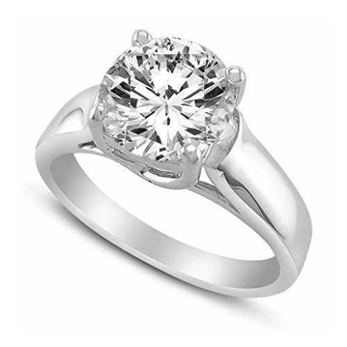 14K Solid White Gold 1.00 cttw