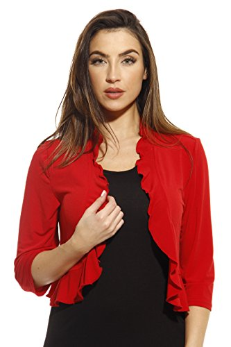 Just Love 401572-RED-L Shrug/Shrugs / Women Cardigan