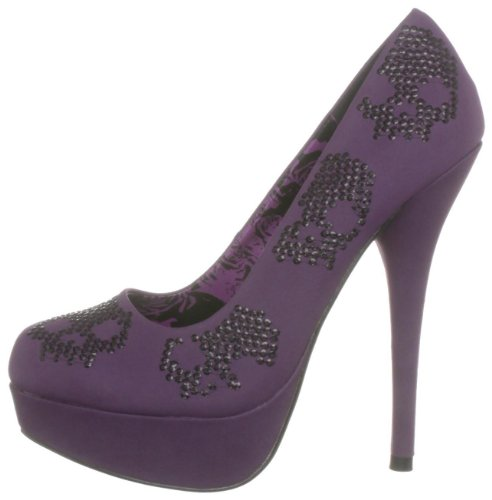 Iron Fist Womens Purple Sugar Hiccup Platform High Heels Sequin Court Shoes Purple Purple 0lu5D