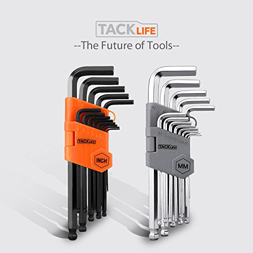 Tacklife-Hex-Key-26-Pieces-Ball-End-Long-Arm-Allen-Wrench-Set-with-13-Black-oxide-FinishInch-364-38-and-13-Matte-Finished-Metric-127mm-10-mm-HHW3A