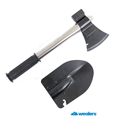 wealers 9 in 1 emergency camping compact tools kit shovel axe knife hamme. Black Bedroom Furniture Sets. Home Design Ideas