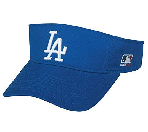 Los Angeles Dodgers MLB OC Sports Sun Visor Golf Hat Cap Royal Blue w/ White LA Logo Adult Men
