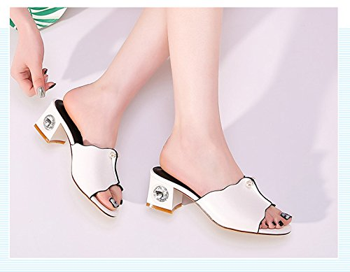 Cool Summer Slippers Fashion High White Heel Lace Heel rzSwX8zq