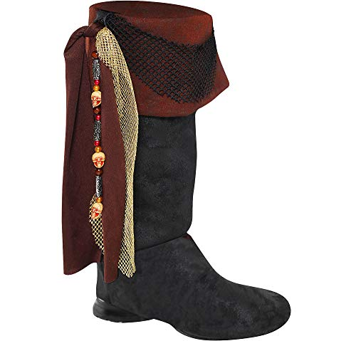 AMSCAN Deluxe Pirate Boot Tops Halloween Costume Accessories for Adults, One -