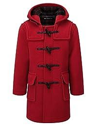 Kids Classic Duffle Coat (Toggle Coat) in Red