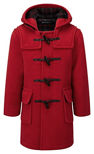 Kids Classic Duffle Coat (Toggle Coat) in Red (4-6Y) -