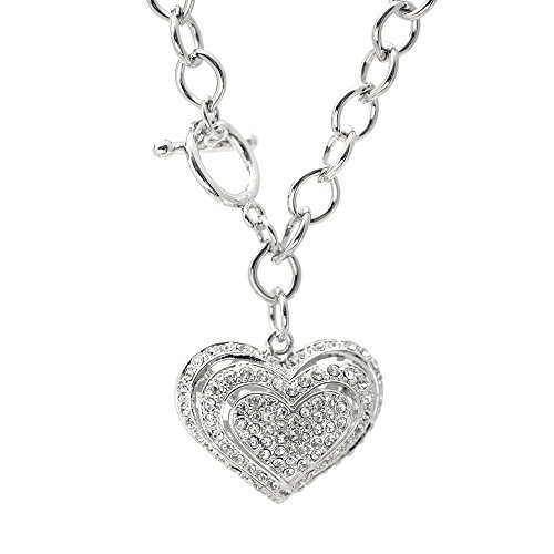 Spinningdaisy Silver Crystal Breathing Necklace