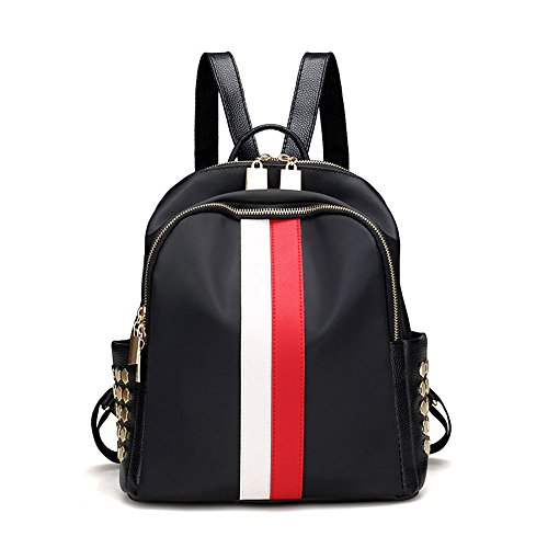 Mynos Fashion Luxury Designer Women Small Backpack Bag Teenager School Backpack (Red and - Fashion Warehouse Designer