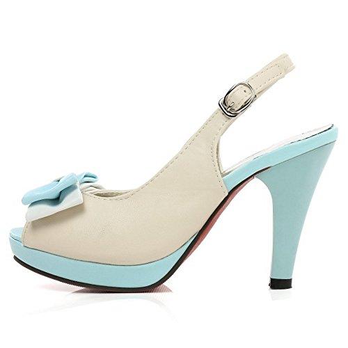 Mujer Sandalias Zapatos Plataforma Blue Coolcept Slingback w8FBdBx