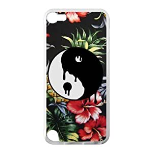 Canting_Good Ying Yang Custom Case Cover Shell for IPod Touch 5 TPU (Laser Technology)