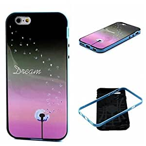 YULIN 2-in-1 Star Dandelion Dream Pattern TPU Back Cover with PC Bumper Shockproof Soft Case for iPhone 6