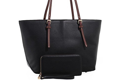 Sara Lock & Key Concealed Carry Tote & Matching Wallet (Black)