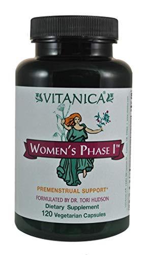 Vitanica – Women s Phase I, Premenstrual Support, Vegan, 120 Capsules