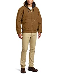 Men's Big & Tall Quilted Flannel-Lined Sandstone Active Jacket J130