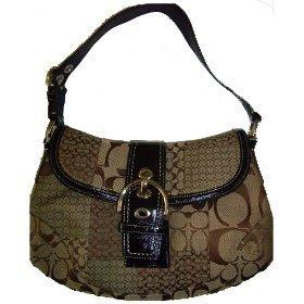 Handbag Soho Sig Pwk Flap F12316 Brown Signature (Soho Flap Handbag)