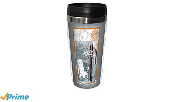 16-Ounce Multicolored Tree-Free Greetings sg23087 Graphic Steamboat Ski Design by Mike Rangner Stainless Steel Sip N Go Travel Tumbler