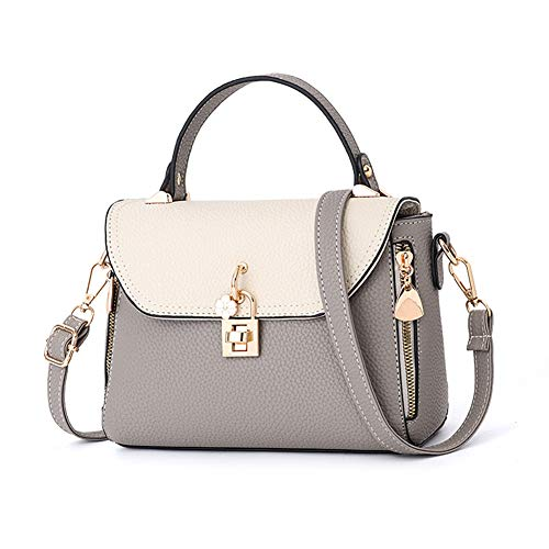 059a73115a612 Women Shoulder Cross Body Bag, S.Charma Leather Handbags Purse Small Square  Bag for Ladies Grey