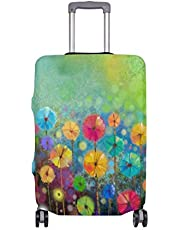 Mydaily Floral Daisy Watercolor Spring Flower Luggage Cover Fits 29-32 Inch Suitcase Spandex Travel Protector XL