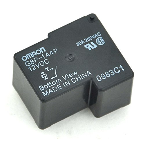Electronics-Salon 2pcs G8P-1A4P 12VDC Power Relay, 30A 250VAC SPST-NO, 12V Coil.