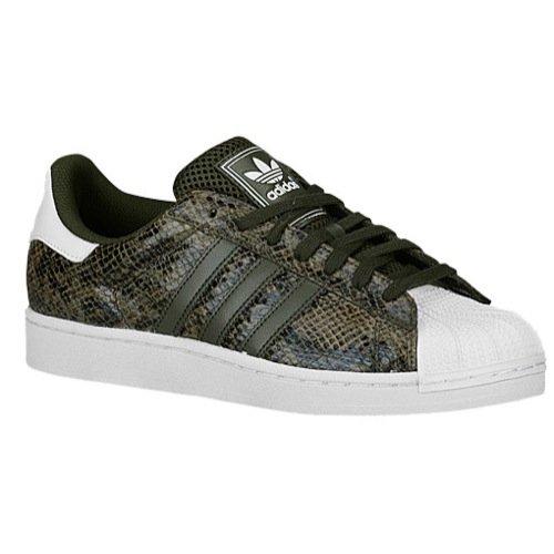adidas Originals Men's Superstar Shoes B00QHJG4JY 8 M US Night Cargo/White