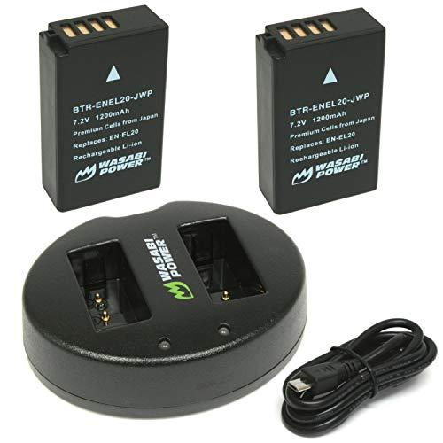 Wasabi Power Battery (2-Pack) and Dual USB Charger for Nikon EN-EL20, EN-EL20a and Blackmagic Pocket Cinema Camera