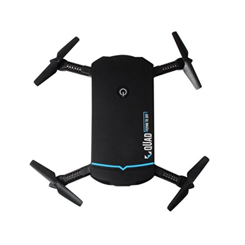 Inverlee Foldable 720P HD Camera Drone Wifi FPV App Control RC Quadcopter Toy Gift (Black) by Inverlee
