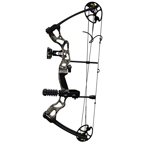 (Southland Archery Supply SAS Rage 70 Lbs 30'' Compound Bow (Camo with Full Accessories in Black))