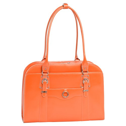 McKleinUSA HILLSIDE 96520 Orange Leather Ladies' Briefcase