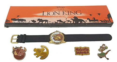 The Lion King 1994 Kodak Promotional Watch and Lion King 4 Pin Set